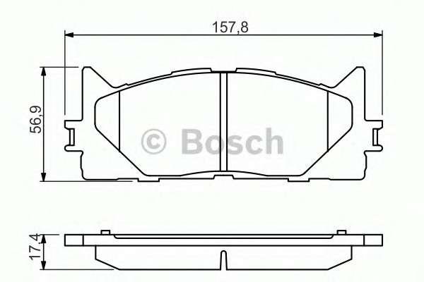 Запчасть 0986494430 bosch Комплект тормозных колодок, дисковый тормоз