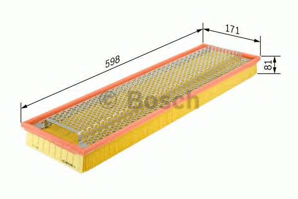 Запчасть 1457433626 BOSCH Фильтр воздушный MERCEDES-BENZ (пр-во Bosch) фото