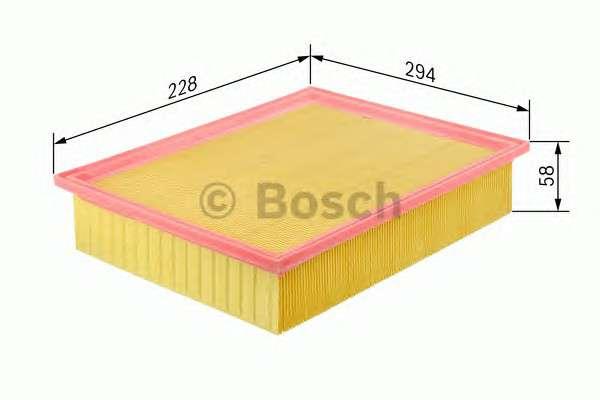 Запчасть 1457433752 BOSCH Фильтр воздушный MERCEDES W202 (пр-во Bosch) фото