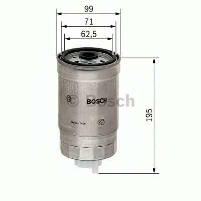 Запчасть 1457434402 BOSCH Фильтр топливный IVECO (TRUCK) (пр-во Bosch) фото