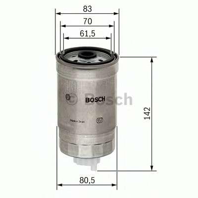 Запчасть 1457434510 BOSCH Паливний фільтр 4510 HYUNDAI/KIA Accent,Getz,Sonata 1,5-2,5 02- фото