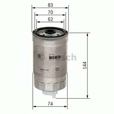 Запчасть 1457434516 BOSCH Фильтр топливный HYUNDAI; KIA (пр-во Bosch) фото