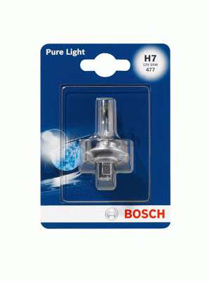 Запчасть 1 987 301 012 BOSCH Лампа накаливания 12V 55W H7 PURE LIGHT (blister 1 шт) (пр-во Bosch) фото