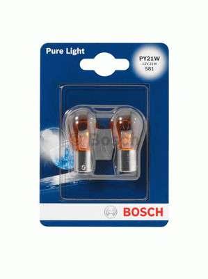 Запчасть 1987301018 BOSCH Лампа PY21W 12V блистер 2 шт. - кратн. 20 шт фото