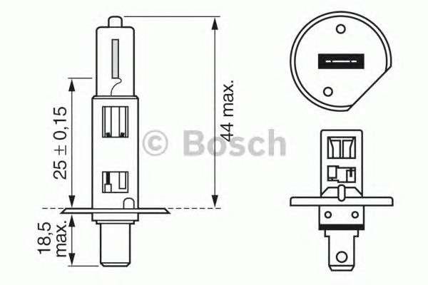 Запчасть 1987302011 bosch Лампа накаливания, фара дальнего света; Лампа накаливания, основная фара; Лампа накаливания, противотуманная фара