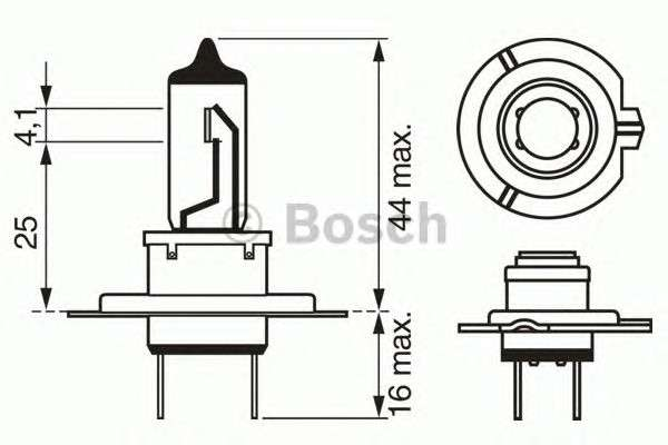 Запчасть 1 987 302 071 BOSCH Лампа накаливания 12V 55W H7 PX26d  PURE LIGHT (пр-во Bosch) фото