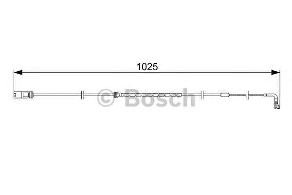 Запчасть 1987473026 bosch Сигнализатор, износ тормозных колодок
