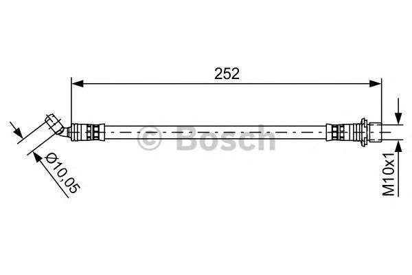Запчасть 1987481662 bosch Тормозной шланг