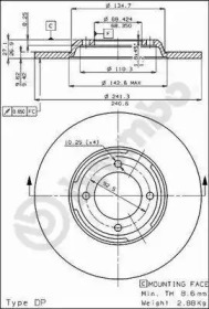 Запчасть 08.2950.24 BREMBO Тормозной диск фото