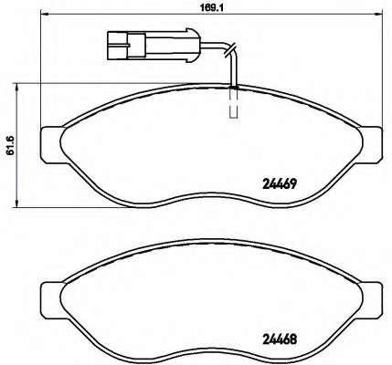 Запчасть P23143 BREMBO Тормозные колодки дисковые фото