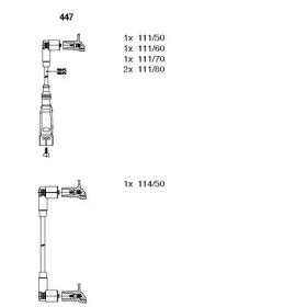 Запчасть 447 BREMI Комплект проводів AUDI/VW 80/100/Passat \2,0-2,3 \85-96 фото