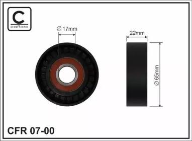 Запчасть 07-00 CAFFARO 65x17x22 Ролик паска приводного DB (W168) A 1.7DCI 98- фото
