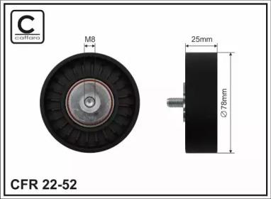 Запчасть 22-52 CAFFARO 78x8x25 Ролик паска приводного VW T4 2.4/2.5i фото