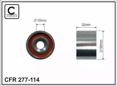 Запчасть 277-114 CAFFARO Ролик опорный ремня ГРМ HYUNDAI ACCENT 1,5D/I30 1,5D/SANTA FE 2,0* фото