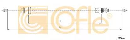 Запчасть 491.3 COFLE Трос стояночного гальма зад. лівий PSA Jumpy/Expert/Scudo 95- фото