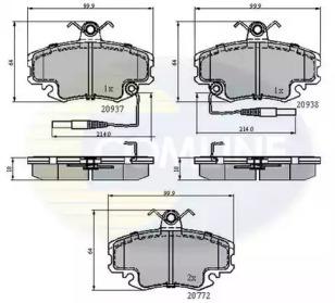 Запчасть cbp1431 comline Комплект тормозных колодок, дисковый тормоз