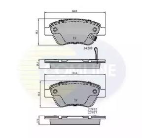 Запчасть cbp31594 comline Комплект тормозных колодок, дисковый тормоз