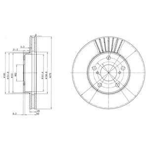Запчасть BG3856 DELPHI Гальмівний диск фото