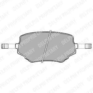 Запчасть LP1015 DELPHI Гальмівні колодки, дискові фото