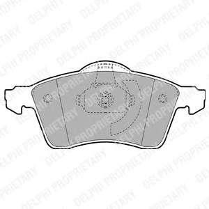 Запчасть lp1092 delphi Комплект тормозных колодок, дисковый тормоз