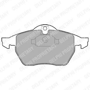 Запчасть LP1600 DELPHI Гальмівні колодки, дискові фото