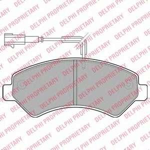 Запчасть lp1993 delphi Комплект тормозных колодок, дисковый тормоз