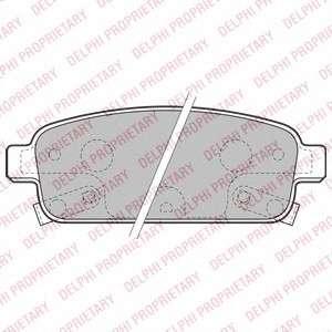 Запчасть LP2167 DELPHI Гальмівні колодки, дискові фото