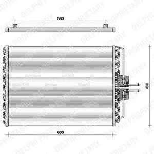 Запчасть TSP0225061 DELPHI Конденсер кондиціонера фото