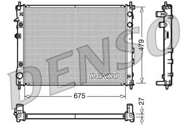 Запчасть drm36012 denso Радиатор, охлаждение двигателя