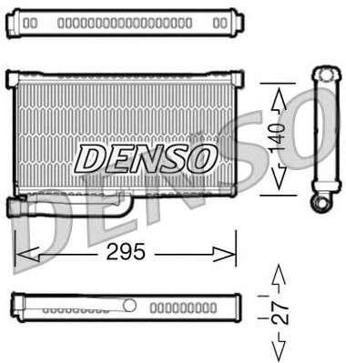 Запчасть drr02004 denso Теплообменник, отопление салона