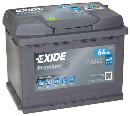 Запчасть EA640 EXIDE Аккумулятор   64Ah-12v Exide PREMIUM(242х175х190),R,EN640 фото