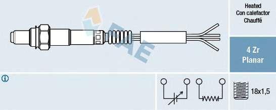 Запчасть 77005 FAE Датчик кислорода (пр-во FAE (Испания)) фото