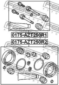 Ремкомплект, тормозной суппорт 0175azt250r2 febest