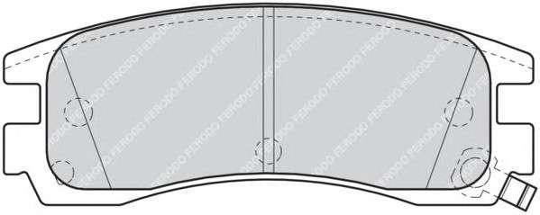 Запчасть fdb1264 ferodo Комплект тормозных колодок, дисковый тормоз