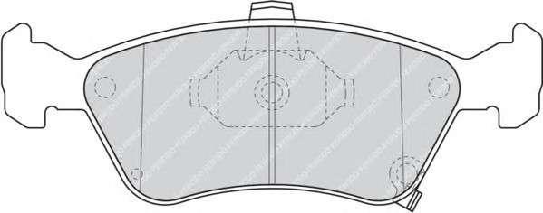Запчасть FDB1321 FERODO Колодки гальмівні дискові фото
