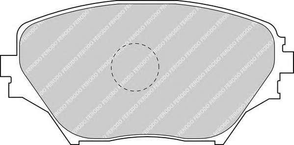 Запчасть FDB1514 FERODO Колодки гальмівні дискові фото
