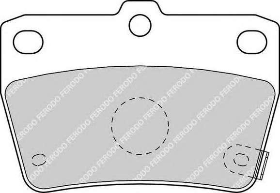 Запчасть FDB1531 FERODO Колодки гальмівні дискові фото