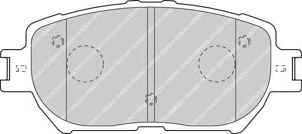 Запчасть FDB1620 FERODO Гальмівні колодки, дискові фото