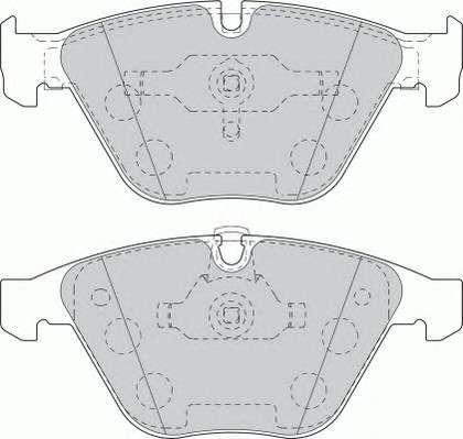 Запчасть FDB1628 FERODO Тормозные колодки Ferodo фото