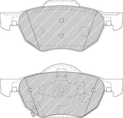 Запчасть FDB1704 FERODO Колодки гальмівні дискові фото