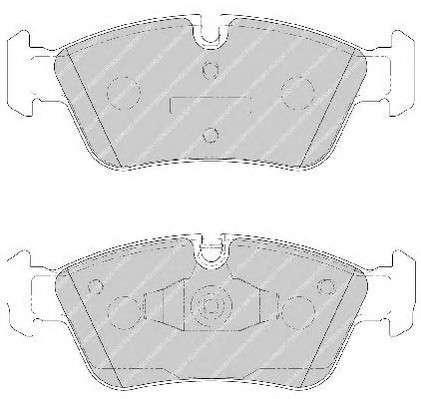 Запчасть FDB1751 FERODO Колодки гальмівні дискові фото
