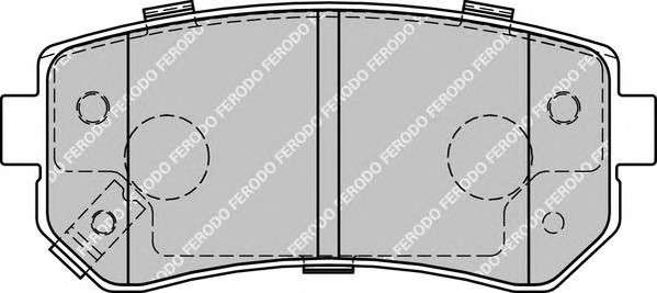 Запчасть FDB1956 FERODO Колодки гальмівні дискові фото