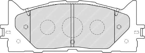 Запчасть FDB1991 FERODO Колодки гальмівні дискові фото