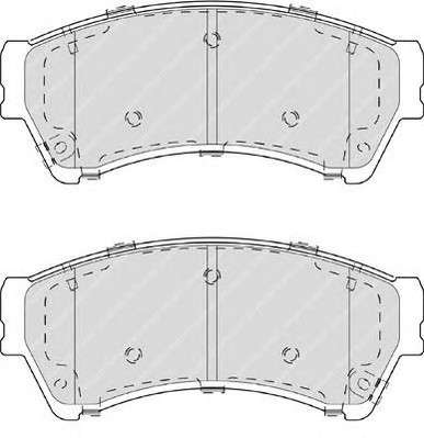 Запчасть FDB4062 FERODO Колодки гальмівні дискові фото