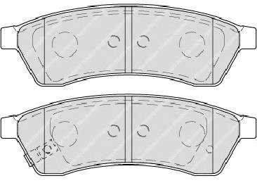 Запчасть fdb4305 ferodo Комплект тормозных колодок, дисковый тормоз