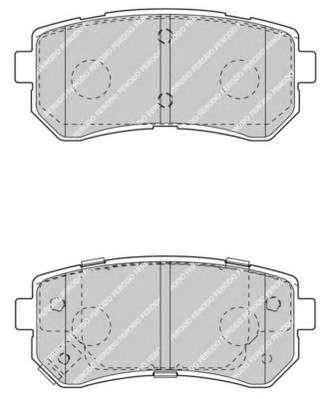 Запчасть FDB4408 FERODO Колодки гальмівні дискові фото