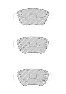 Запчасть FDB4486 FERODO Комплект тормозных колодок, дисковый тормоз фото