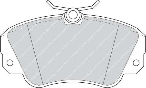 Запчасть FDB686 FERODO Гальмівні колодки, дискові фото