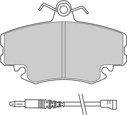 Запчасть FDB845 FERODO Колодки гальмівні дискові фото