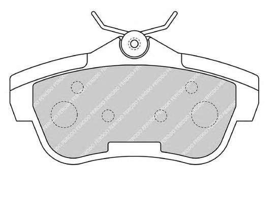 Запчасть FVR1772 FERODO Колодки гальмівні дискові фото